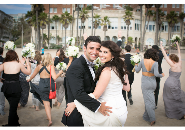 LA Wedding Planner Wayne Gurnick: wedding design and coordination for Art Deco wedding at Hotel Casa Del Mar, Santa Monica, CA