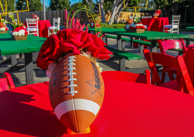 Football on your mind? How about a football-themed party for your friends and family?